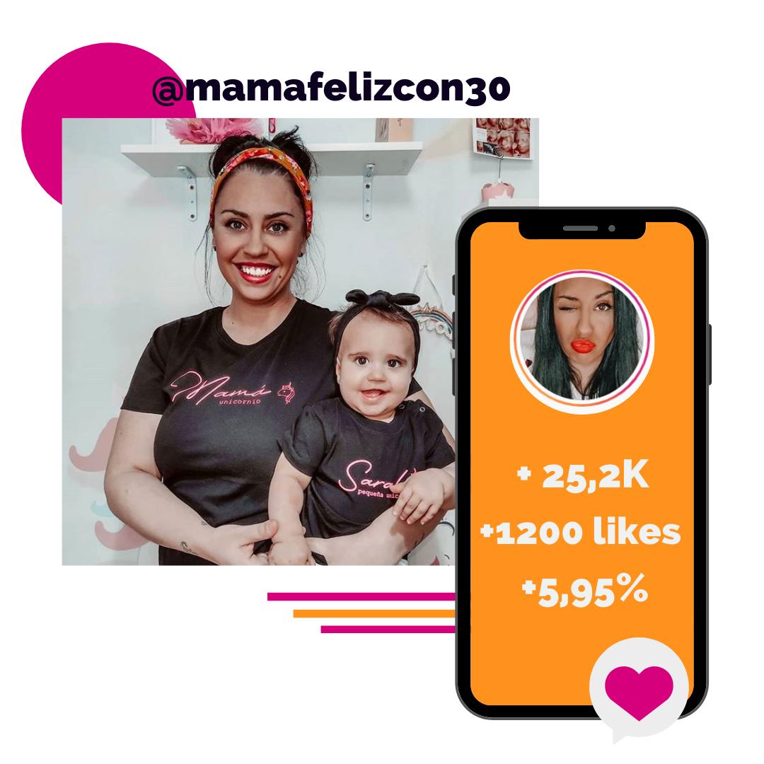 Microinfluencers que funcionan - Mama feliz con 30